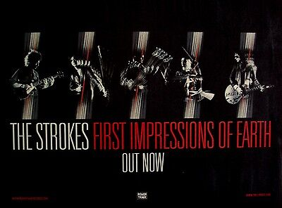 THE STROKES 2006 Poster Ad FIRST IMPRESSIONS OF EARTH