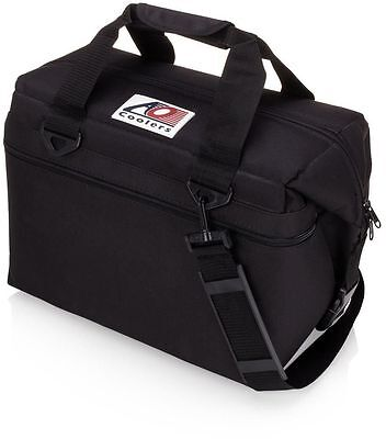 Party Lunch Bag AO Coolers 30-Quart Black Canvas Cooler Insulated Travel Picnic