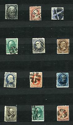 Usa United States Of America 1861 – 1883 ***** 12 Used Stamps