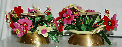 "Pair of Candle Sticks by Artist Orna LALO Modern Art -4 TallX 5"" Wide - WOW!"