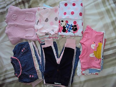 0-3 months baby girl clothes bundle (28 items)