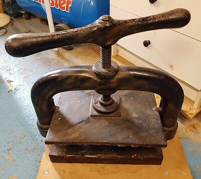 Antique Victorian Book / Letter / Printing / Binding Press Vintage Industrial