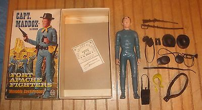 Vintage Marx Best of the West Captain Maddox Figure w/Accessories in rough box