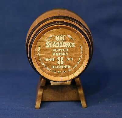 Old St Andrews 8 Years Old Blended Scotch Whisky 50ml Replica Oak Barrel W Stand
