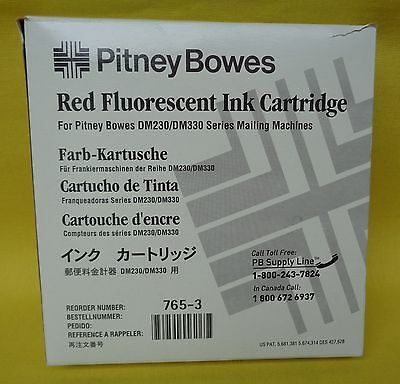 Pitney Bowes 765-3 Red Fluorescent Ink for DM230 DM330 Series Mailing Machines
