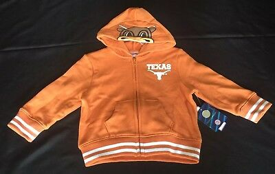 *NWT* UT Longhorns Hoodie Bevo 24 Month Baby Football UNIVERSITY OF TEXAS Jacket