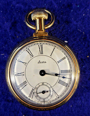 Vintage Sears Gold Filled Railroad Pocket Watch