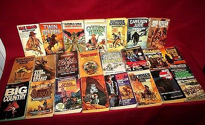 Lot Of 23 Western Paperback Books By Various Authors