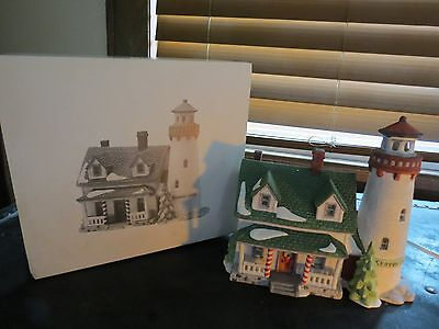 """Department 56 New England Village """"Craggy Cove Lighthouse"""" Retired"""