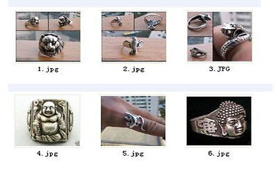 Wholesale Wonderful Tribal Tibet Silver Carved Fashion Ring 6 Style 6266