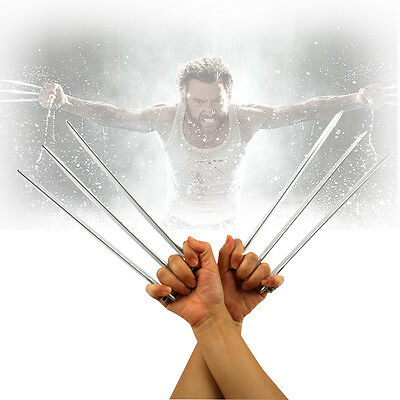 Adult Children 2PCS Wolverine Logan X-23 Claws ABS Plastic Cosplay Props Gift