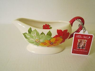 The Pioneer Woman Holiday Christmas Poinsettia Gravy Boat