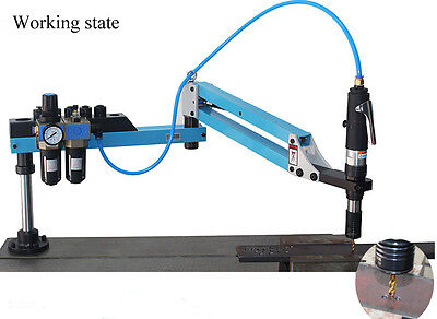 Vertical Pneumatic Tapping & Drilling Machine Working Pressure: 13-17lbs New