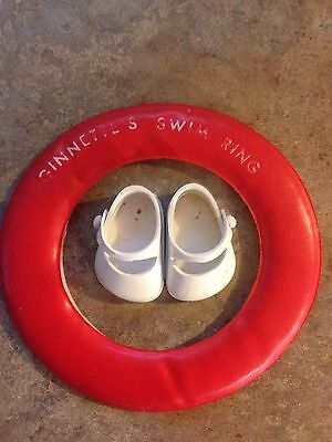 Vintage Vogue Ginnette White Shoes And Swim Ring