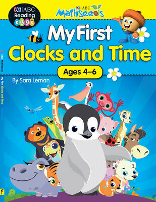 ABC Mathseeds - My First Clocks and Time - Ages 4-6 - NEW - 9781742153216