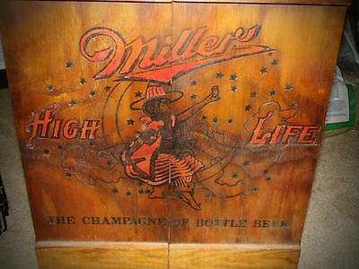 Miller High Life Beer Crate Limited Ed. Cabinet  Moon Girl