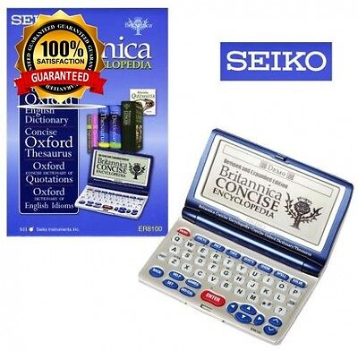 New Genuine Seiko Er8100 Electronic Britannica And Oxford Reference Library