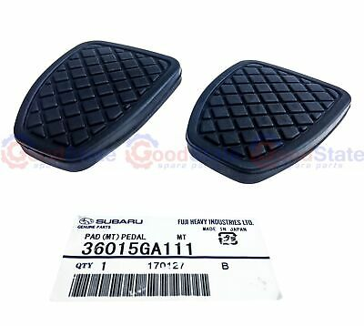 Genuine Subaru Pedal Rubbers Pad Set Brake & Clutch Impreza Liberty Forester