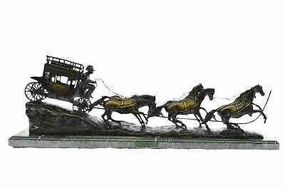 STAGECOACH Bronze Metal Sculpture by Charles M. Russell
