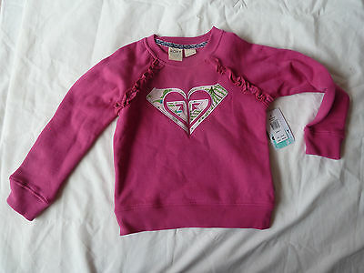 ROXY  girls size 6 sweater jumper Goldenwest deep pink BNWT