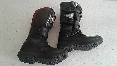 Kids Motorbike boots Fox comp 3, Size youth 2
