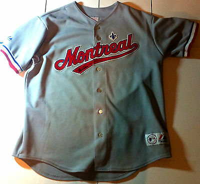 MLB Montreal Expos (XL) Signed Jersey Ellis Valentine Majestic Official