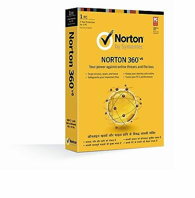 Norton N360 Anti virus 2017 1year 1pc