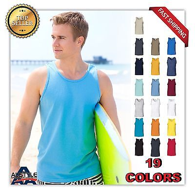 BLANK mans Alstyle Adult Tank Top Plain Muscle Gym Tank Top AL1307