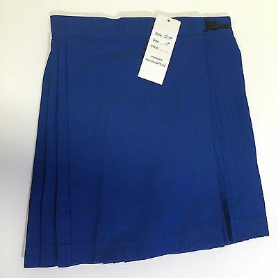 Netball Skirt Pleated Navy Blue Kids Size 10 New Cotton Polyester