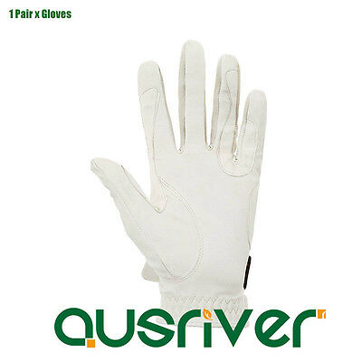 Skidproof Horse Riding Gloves White Grip Gloves Unisex/Children