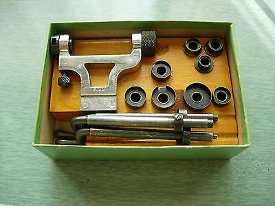 Coffret main spring winder estrapade watchmaker tool, outil Kendrick & Davis co