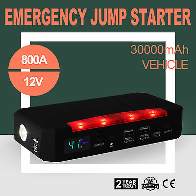 12V 750A Emergency Jump Starter 30000mAh Power Bank Charger USB Portable POPULAR