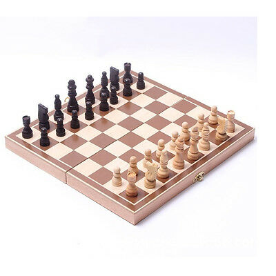 """New Protable Foldable 15"""" Standard Wooden Chess Set"""