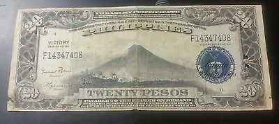 1944 $20 Peso US/Philippines Treasury Note Victory Series #66 (SALE)