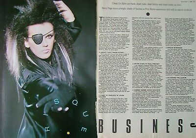 PETE BURNS - magazine clipping / cutting from 1984