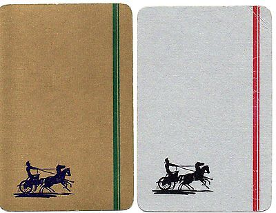 Pair gold & silver - horse & chariot swap playing cards