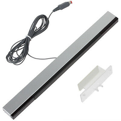 Wired Remote Motion Sensor Bar IR Infrared Ray Inductor for Nintendo Wii / U  LM