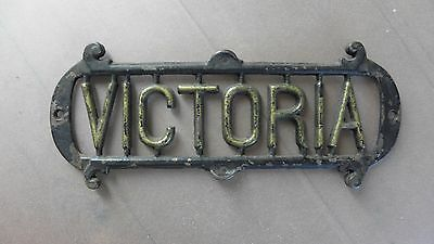 An Original Salvaged Queen Victoria Wall Plaque From Cimiez, Nice, France