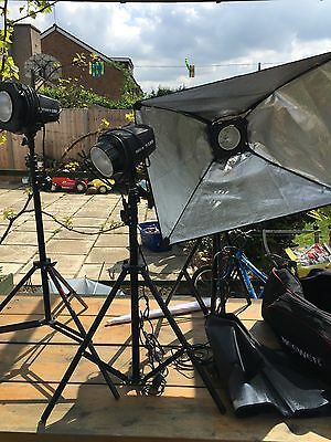 Job Lot Of Photography Lighting Equipment Bag 3 x NEEWER 180