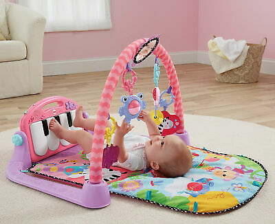 Neu Mattel Fisher Price Spieldecke Piano Gym, pink 5059914