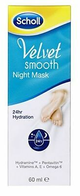 Scholl Velvet Smooth Night Mask - 60ml 24 Hour Hydration Foot Care Cream x 3