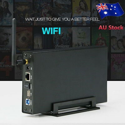 "USB 3.0 WiFI 3.5 "" HDD Enclosure Hard Drive Case Wireless Repeater WiFi Storage"