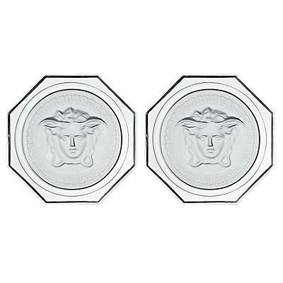 VERSACE ROSENTHAL | Lumiere Clear Crystal Coaster 2 Pieces PAIR