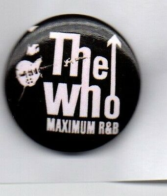 THE WHO Maximum R&B BUTTON BADGE - ENGLISH ROCK BAND 25mm PIN - MODS