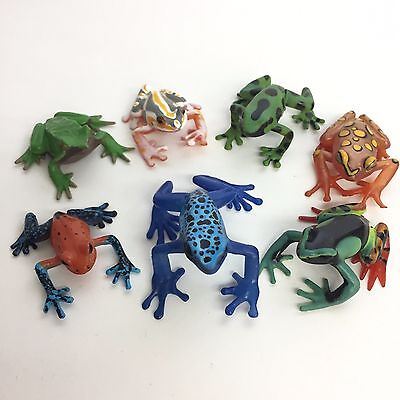【Used】 Tropical Rain Forest Frogs Frog figure 7pcs Set Colorata Japan