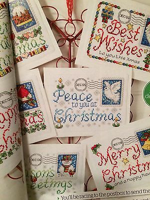 Christmas Stamped Cards X6  Cross Stitch Chart