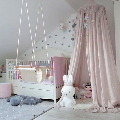 Canopy Bed Netting Mosquito Bedding Net Baby Kids Reading Play Tents Cotton Home