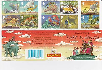 GB Barcode Stamp Booklet 2002  Rudyard Kipling Just So Stories COST £7.24 PP
