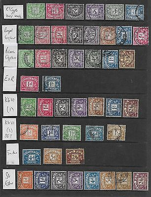 1912/60 Gb Postage Dues Excellent Selection Of 64 Different Vfu (4)