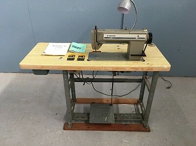 Singer Industrial Heavy Duty 591 Sewing Machine With Table & Motor